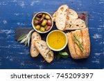 mediterranean snacks set.... | Shutterstock . vector #745209397