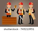 elegant people professional... | Shutterstock .eps vector #745213951