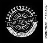 client testimonials chalkboard...   Shutterstock .eps vector #745216357