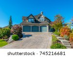 big custom made luxury house... | Shutterstock . vector #745216681