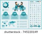 shopping infographic template... | Shutterstock .eps vector #745220149