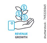 revenue growth concept  ... | Shutterstock .eps vector #745220365
