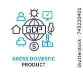 gross domestic product concept  ... | Shutterstock .eps vector #745220401