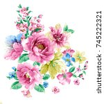 the flowers in the sunny day ... | Shutterstock . vector #745222321