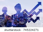 business and growth concept. | Shutterstock . vector #745224271