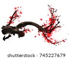 ancient chinese traditional... | Shutterstock . vector #745227679