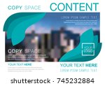 presentation layout design... | Shutterstock .eps vector #745232884