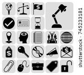 set of 22 business icons ... | Shutterstock .eps vector #745233181