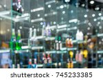 blurred image of colorful... | Shutterstock . vector #745233385