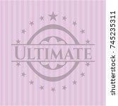 ultimate retro pink emblem | Shutterstock .eps vector #745235311