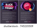 big sale black friday round...   Shutterstock .eps vector #745235509