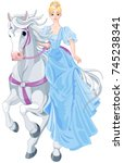 illustration of princess is... | Shutterstock .eps vector #745238341