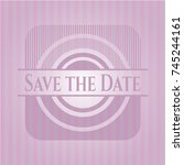 save the date vintage pink...   Shutterstock .eps vector #745244161