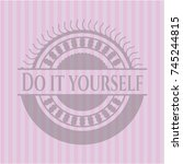 do it yourself realistic pink... | Shutterstock .eps vector #745244815