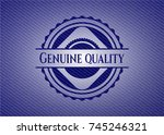 genuine quality emblem with... | Shutterstock .eps vector #745246321