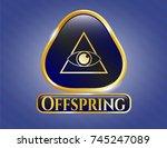 shiny badge with illuminati... | Shutterstock .eps vector #745247089