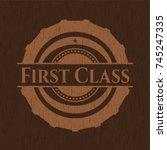 first class realistic wooden...   Shutterstock .eps vector #745247335