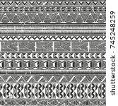 ethnic seamless pattern....   Shutterstock .eps vector #745248259
