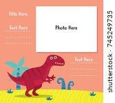 photo book dinosaur theme... | Shutterstock .eps vector #745249735