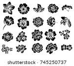 flower set | Shutterstock . vector #745250737