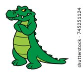 cartoon alligator | Shutterstock .eps vector #745251124
