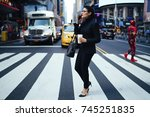 confident female lawyer... | Shutterstock . vector #745251835