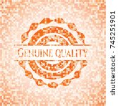 genuine quality abstract emblem ... | Shutterstock .eps vector #745251901