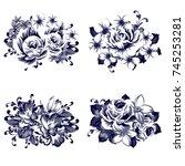 flower set | Shutterstock .eps vector #745253281