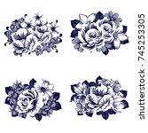 flower set | Shutterstock .eps vector #745253305