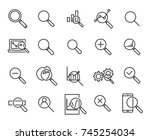 simple collection of research... | Shutterstock .eps vector #745254034
