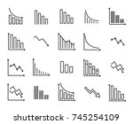 simple collection of reduction... | Shutterstock .eps vector #745254109