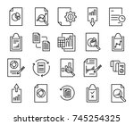 simple collection of report... | Shutterstock .eps vector #745254325