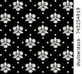 tiled seamless geometric... | Shutterstock .eps vector #745254919