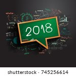 2018 business success strategy... | Shutterstock .eps vector #745256614