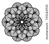 mandalas for coloring book.... | Shutterstock .eps vector #745265935