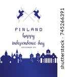 finland national day vector | Shutterstock .eps vector #745266391