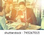 entrepreneurs business people... | Shutterstock . vector #745267015