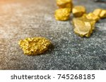 gold ore mined from mines... | Shutterstock . vector #745268185