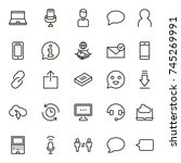 chat icon set. collection of... | Shutterstock .eps vector #745269991