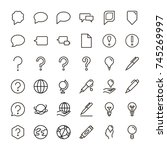 information icon set.... | Shutterstock .eps vector #745269997