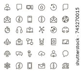 chat icon set. collection of...   Shutterstock .eps vector #745270015