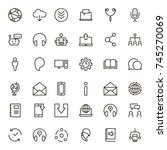 chat icon set. collection of... | Shutterstock .eps vector #745270069