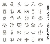 chat icon set. collection of... | Shutterstock .eps vector #745270081