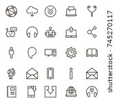 chat icon set. collection of... | Shutterstock .eps vector #745270117
