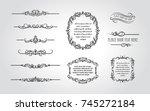 decorative divider   frame... | Shutterstock .eps vector #745272184