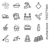thin line icon set   factory... | Shutterstock .eps vector #745277464