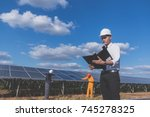 operation and maintenance in... | Shutterstock . vector #745278325