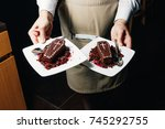 restaurant sweets in the form... | Shutterstock . vector #745292755