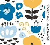 Flower Graphic Design. Trendy...
