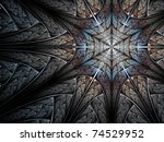 Cold Blue Fractal Abstraction ...